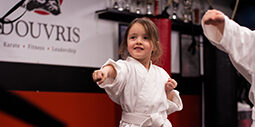 Karate Tykes Member practicing her Katas