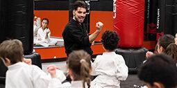Sensei Sebastian teaching karate kids